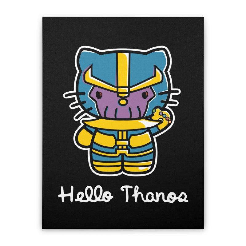 Hello Thanos Home Stretched Canvas by Flaming Imp's Artist Shop