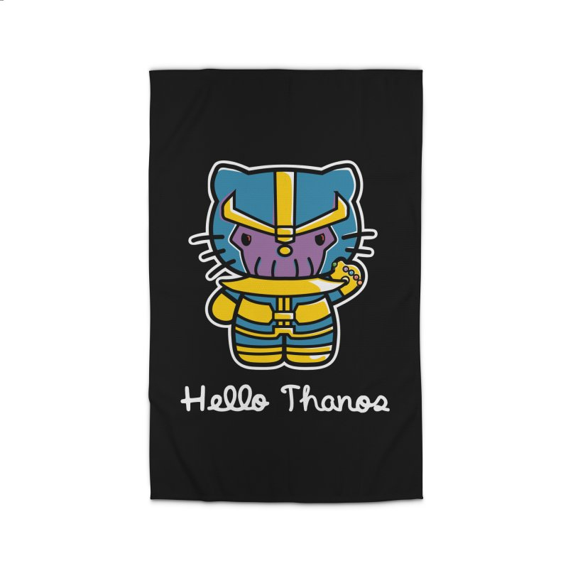 Hello Thanos Home Rug by Flaming Imp's Artist Shop