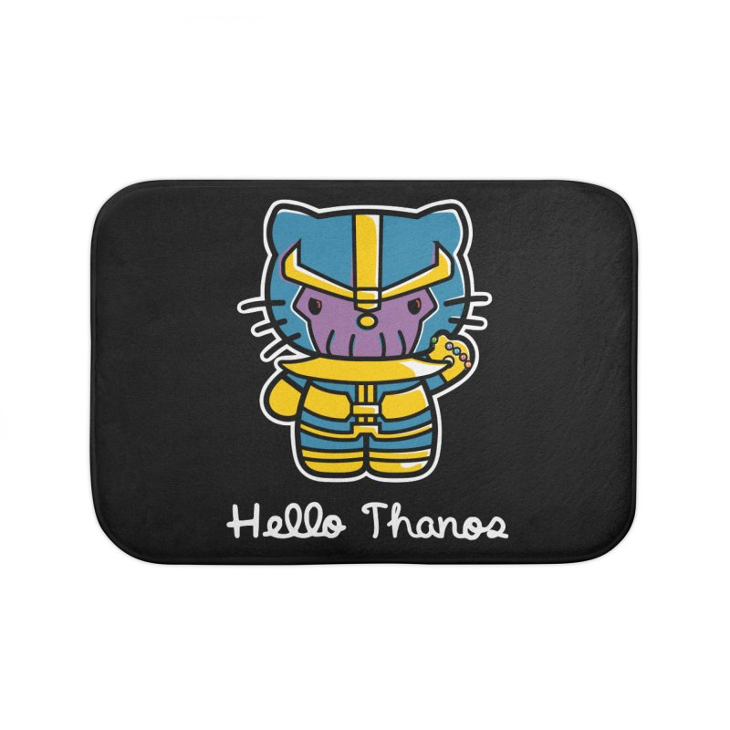 Hello Thanos Home Bath Mat by Flaming Imp's Artist Shop