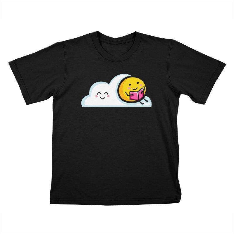 Love Summer Reading Kids T-Shirt by Flaming Imp's Artist Shop
