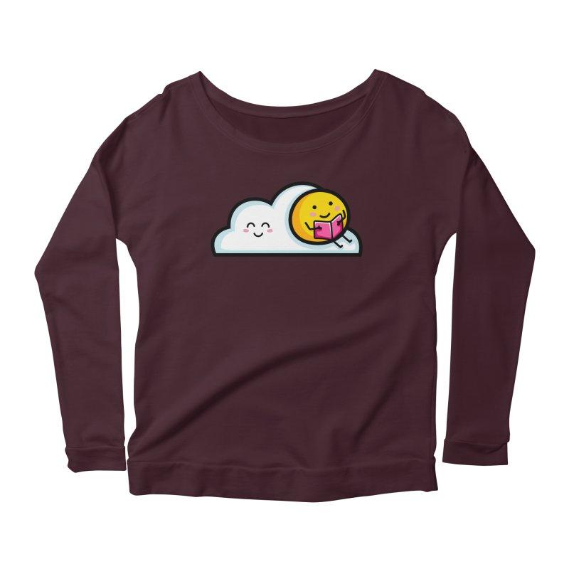 Love Summer Reading Women's Scoop Neck Longsleeve T-Shirt by Flaming Imp's Artist Shop