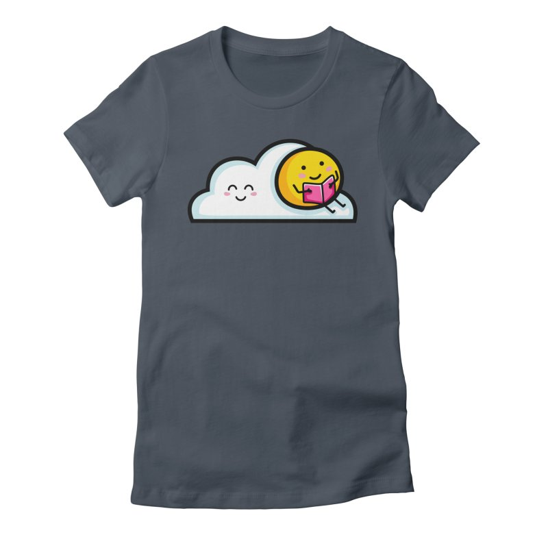 Love Summer Reading Women's Fitted T-Shirt by Flaming Imp's Artist Shop