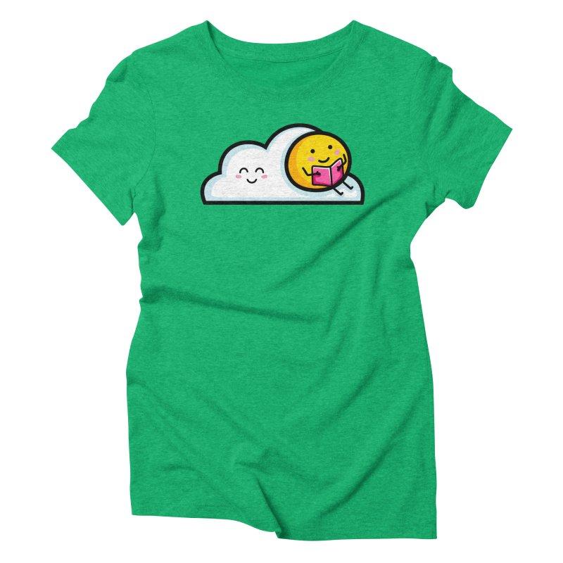 Love Summer Reading Women's Triblend T-Shirt by Flaming Imp's Artist Shop