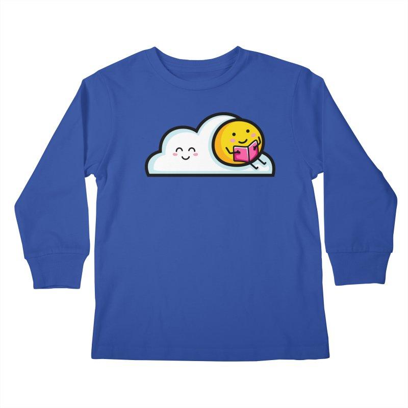 Love Summer Reading Kids Longsleeve T-Shirt by Flaming Imp's Artist Shop