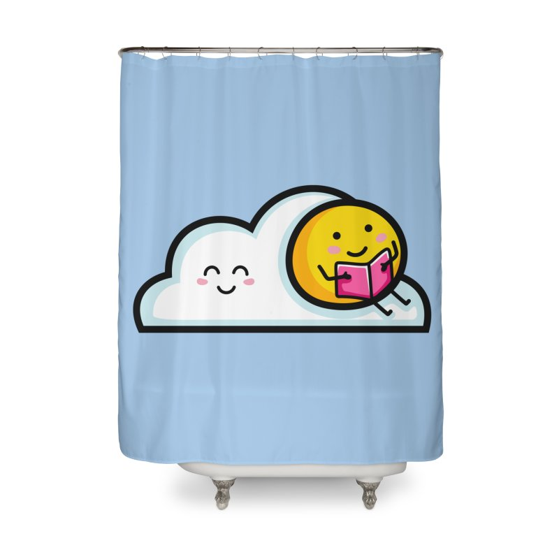 Love Summer Reading Home Shower Curtain by Flaming Imp's Artist Shop
