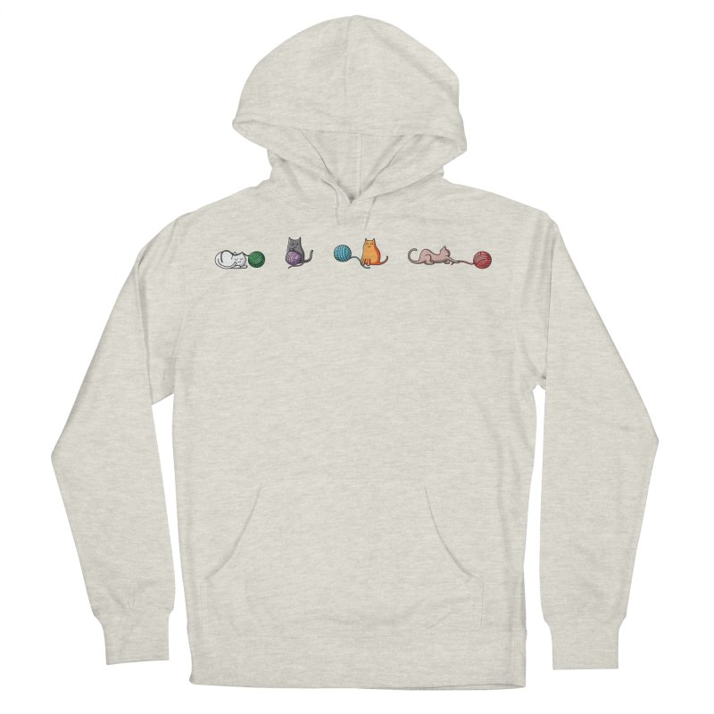 Cats at play Women's French Terry Pullover Hoody by Flaming Imp's Artist Shop