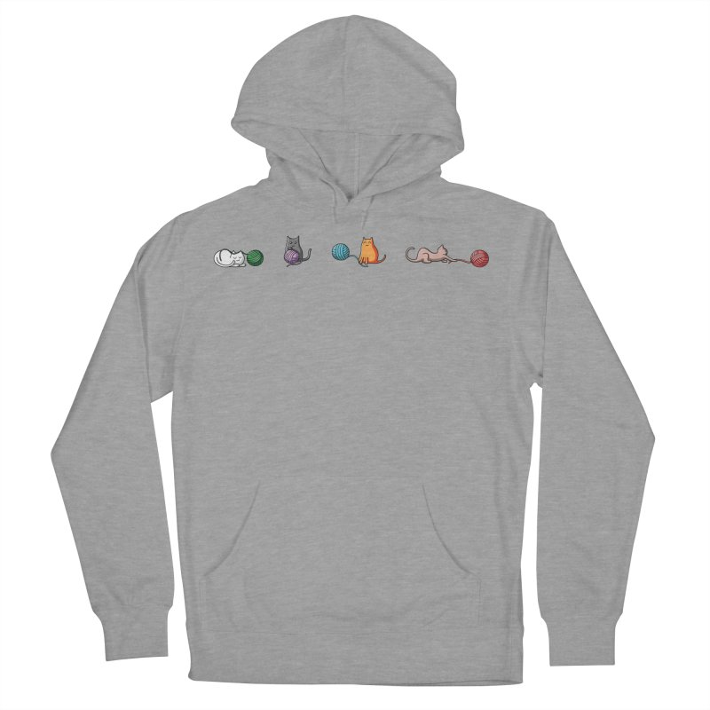 Cats at play Men's Pullover Hoody by Flaming Imp's Artist Shop