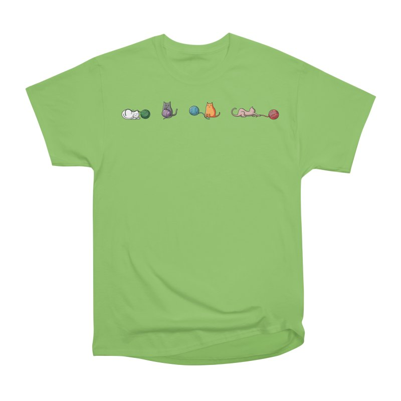 Cats at play Women's Heavyweight Unisex T-Shirt by Flaming Imp's Artist Shop