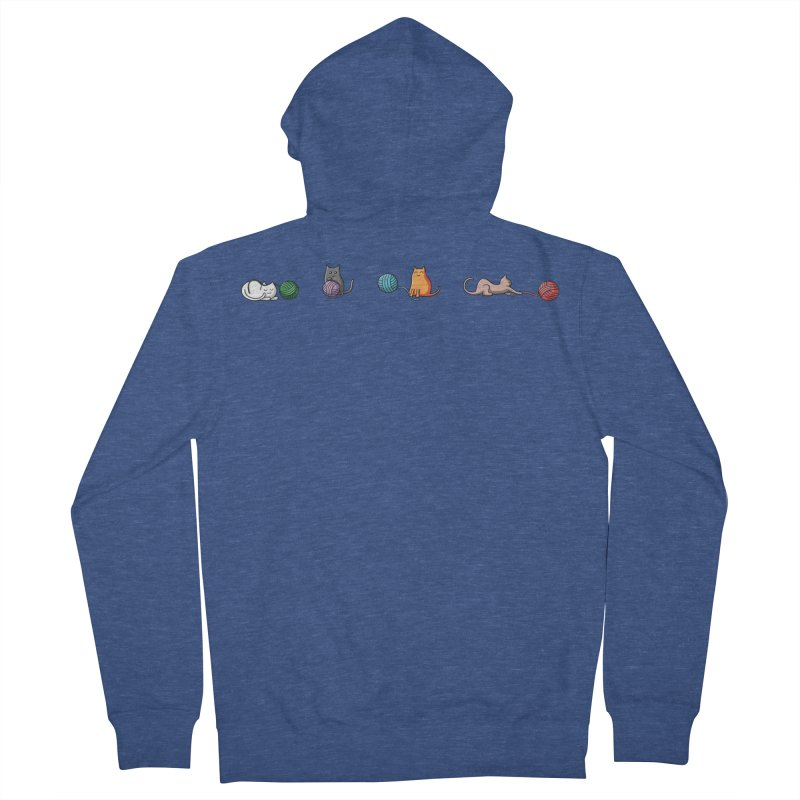 Cats at play Women's Zip-Up Hoody by Flaming Imp's Artist Shop
