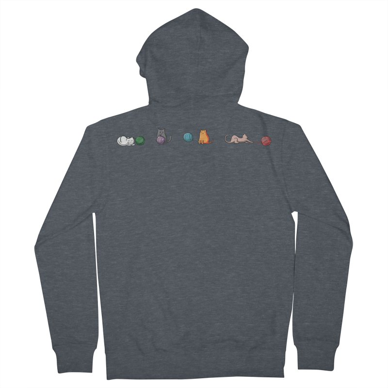 Cats at play Men's French Terry Zip-Up Hoody by Flaming Imp's Artist Shop