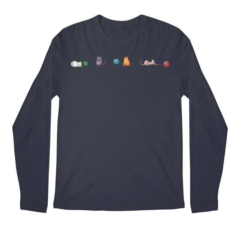 Cats at play Men's Regular Longsleeve T-Shirt by Flaming Imp's Artist Shop