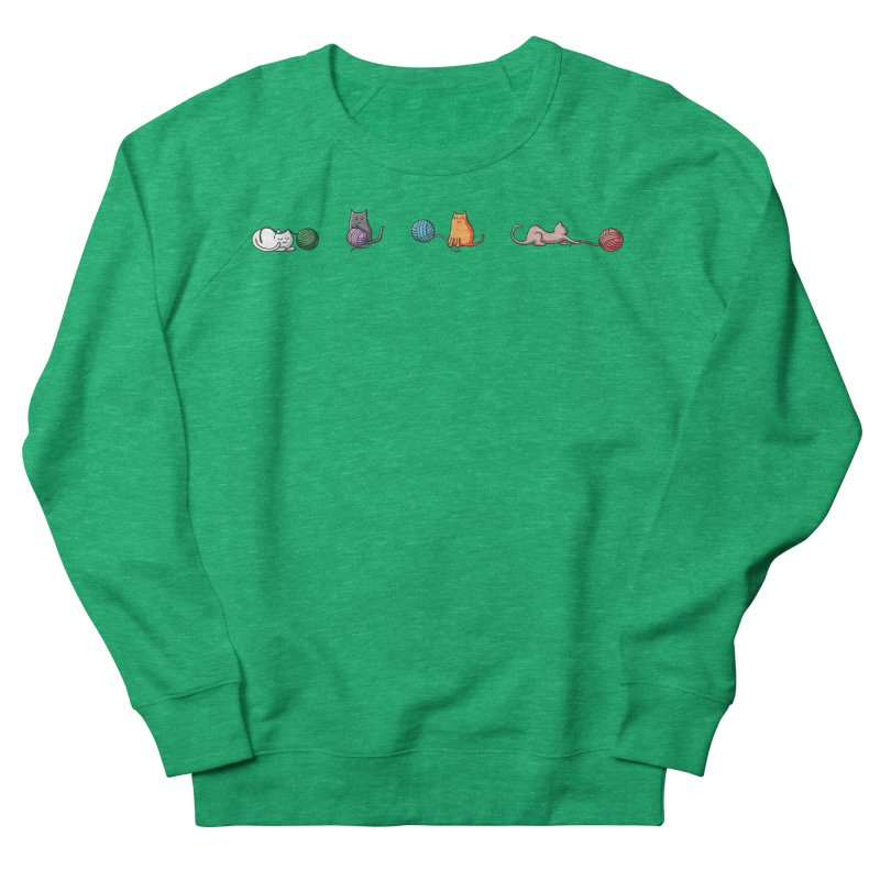 Cats at play Women's French Terry Sweatshirt by Flaming Imp's Artist Shop