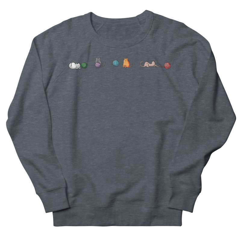 Cats at play Men's French Terry Sweatshirt by Flaming Imp's Artist Shop