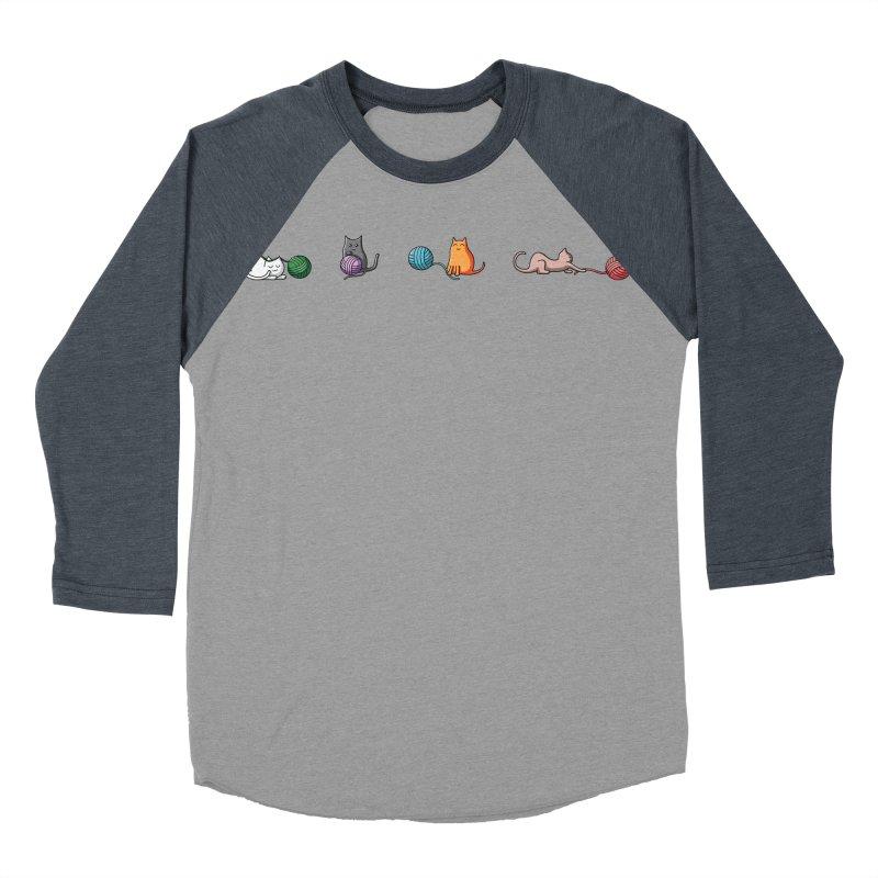 Cats at play Women's Baseball Triblend Longsleeve T-Shirt by Flaming Imp's Artist Shop
