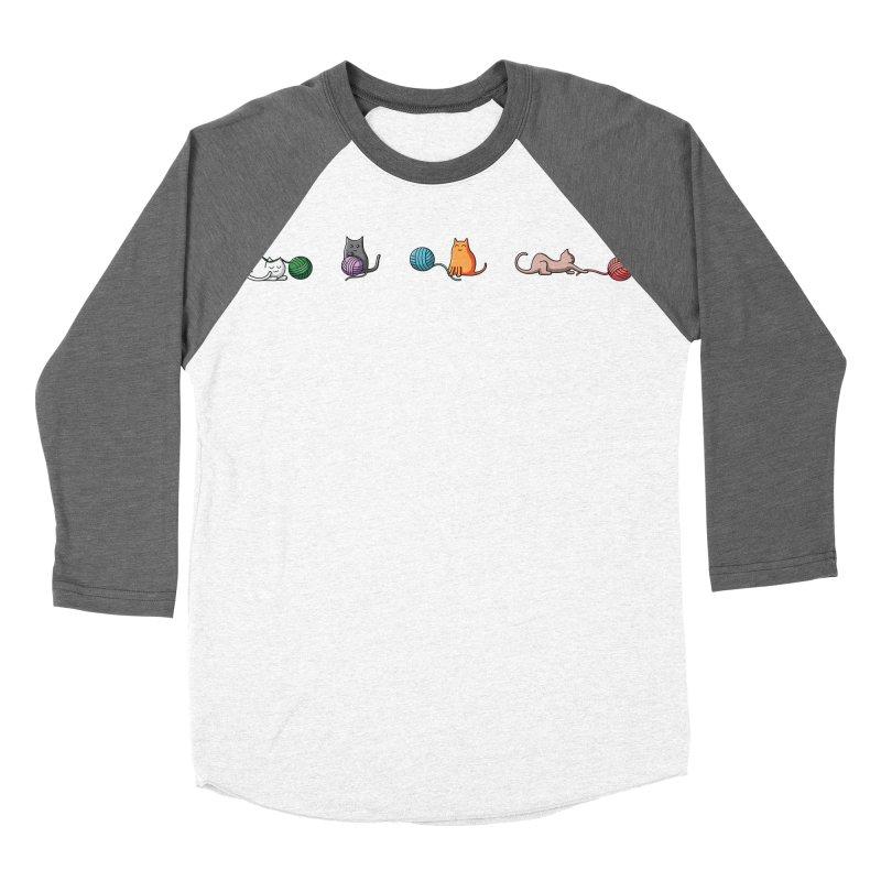 Cats at play Men's Baseball Triblend T-Shirt by Flaming Imp's Artist Shop