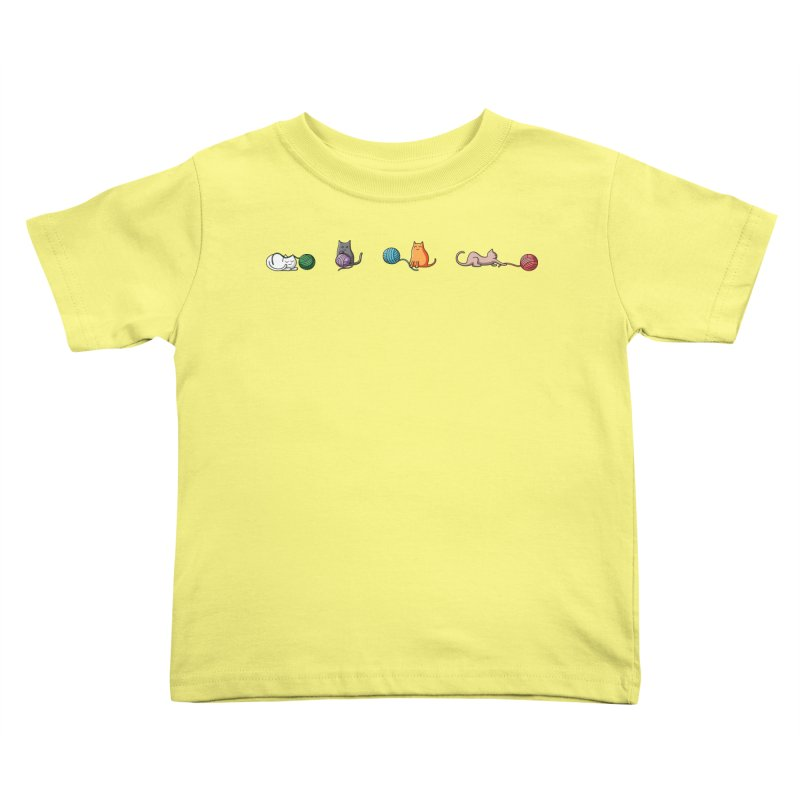 Cats at play Kids Toddler T-Shirt by Flaming Imp's Artist Shop