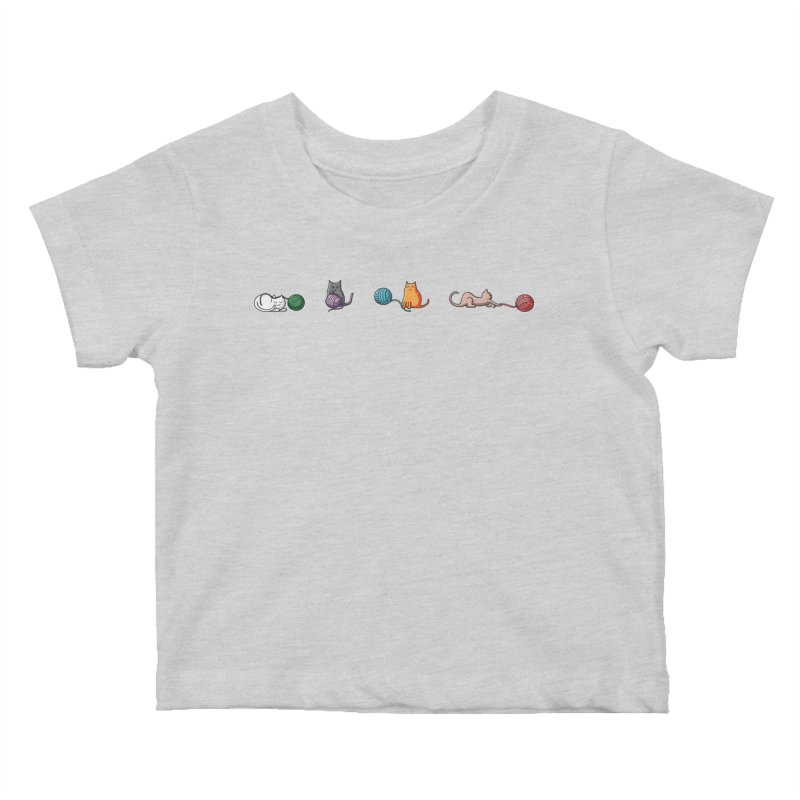 Cats at play Kids Baby T-Shirt by Flaming Imp's Artist Shop