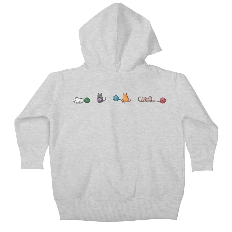 Cats at play Kids Baby Zip-Up Hoody by Flaming Imp's Artist Shop