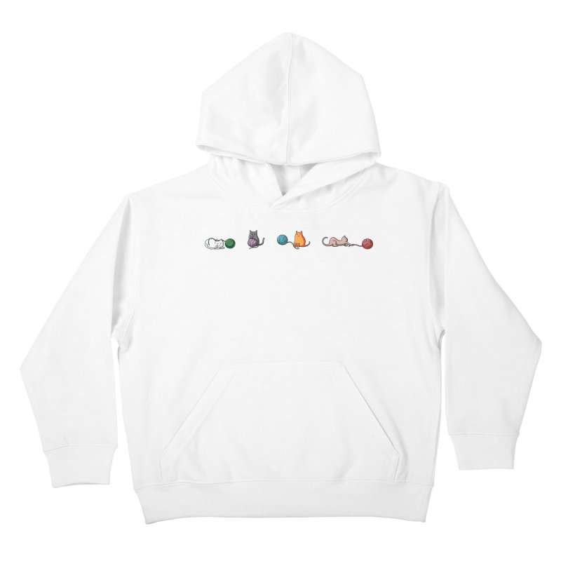 Cats at play Kids Pullover Hoody by Flaming Imp's Artist Shop