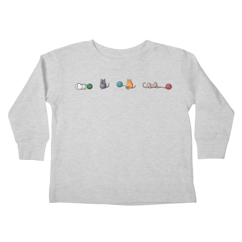 Cats at play Kids Toddler Longsleeve T-Shirt by Flaming Imp's Artist Shop