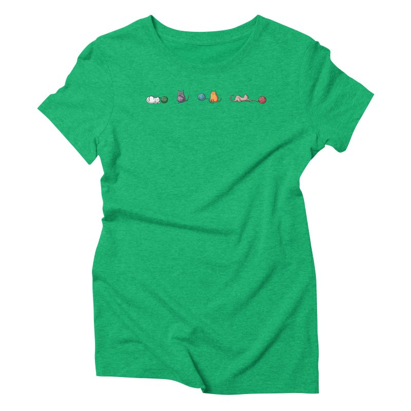 Cats at play Women's Triblend T-Shirt by Flaming Imp's Artist Shop