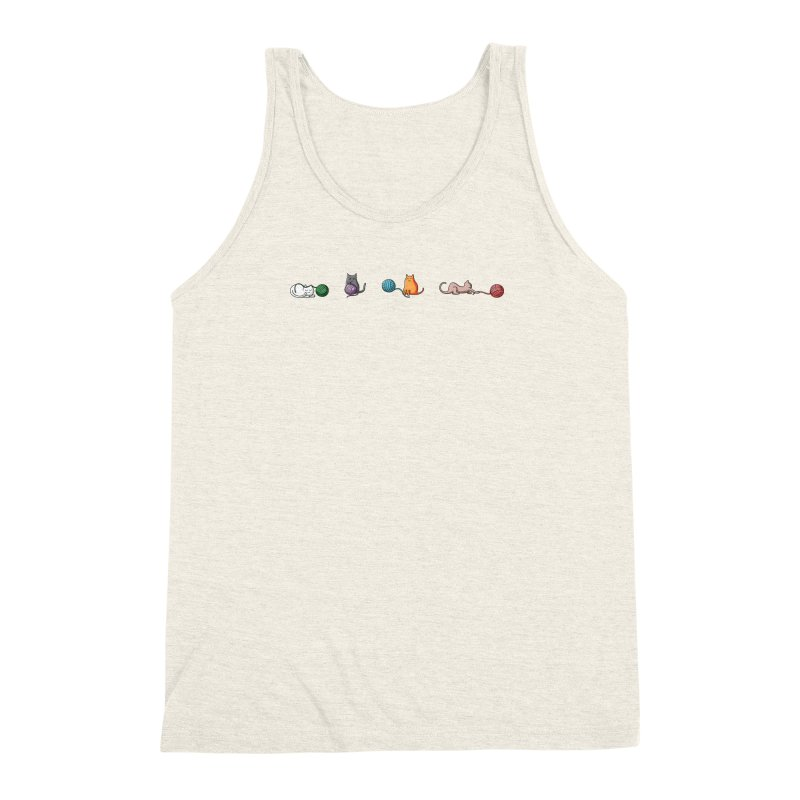 Cats at play Men's Triblend Tank by Flaming Imp's Artist Shop