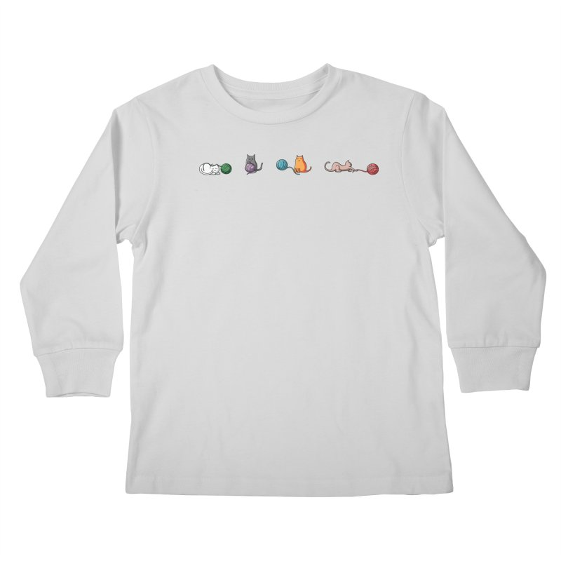 Cats at play Kids Longsleeve T-Shirt by Flaming Imp's Artist Shop