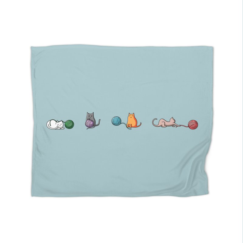 Cats at play Home Blanket by Flaming Imp's Artist Shop