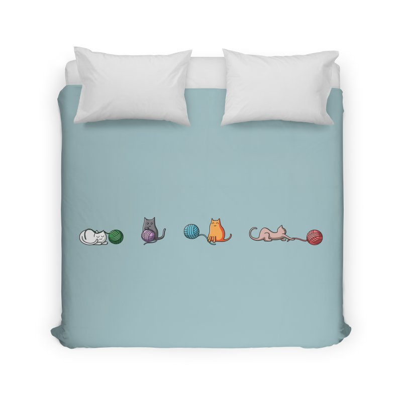 Cats at play Home Duvet by Flaming Imp's Artist Shop