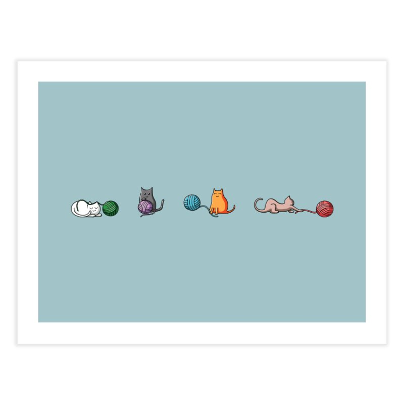 Cats at play Home Fine Art Print by Flaming Imp's Artist Shop
