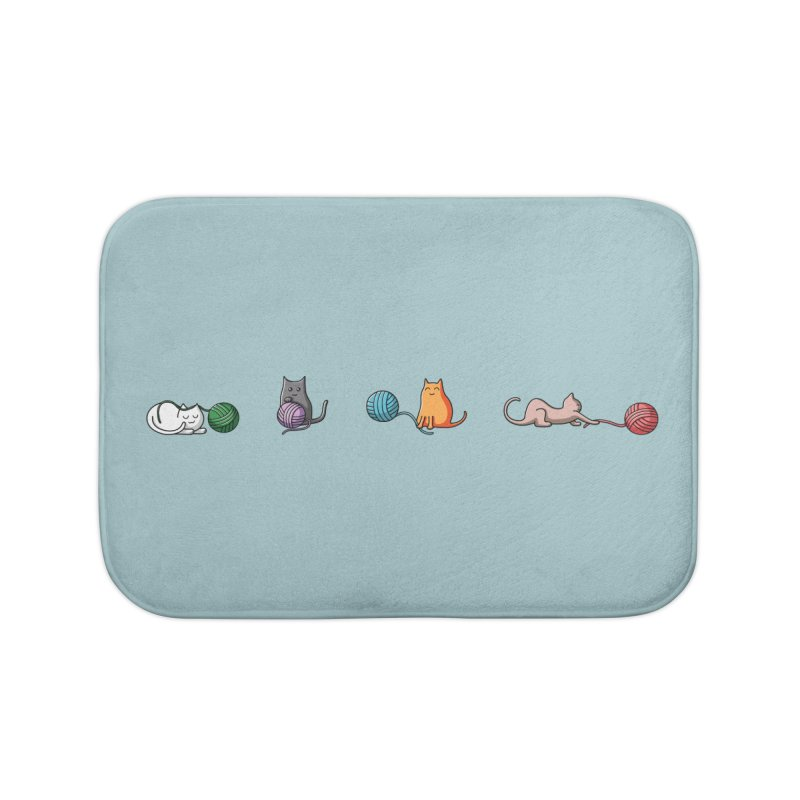 Cats at play Home Bath Mat by Flaming Imp's Artist Shop