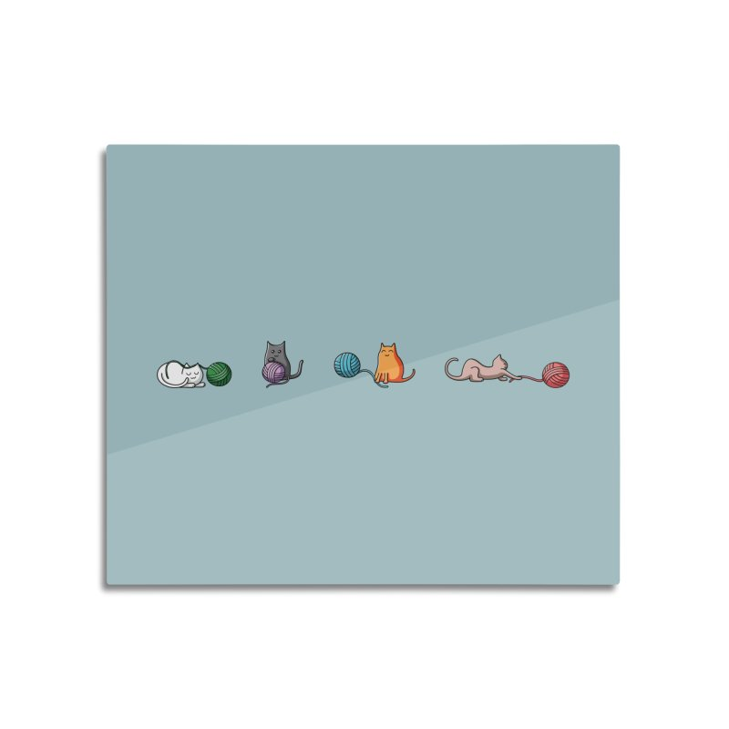 Cats at play Home Mounted Aluminum Print by Flaming Imp's Artist Shop