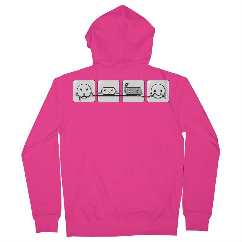 Power Struggle Men's French Terry Zip-Up Hoody by Flaming Imp's Artist Shop
