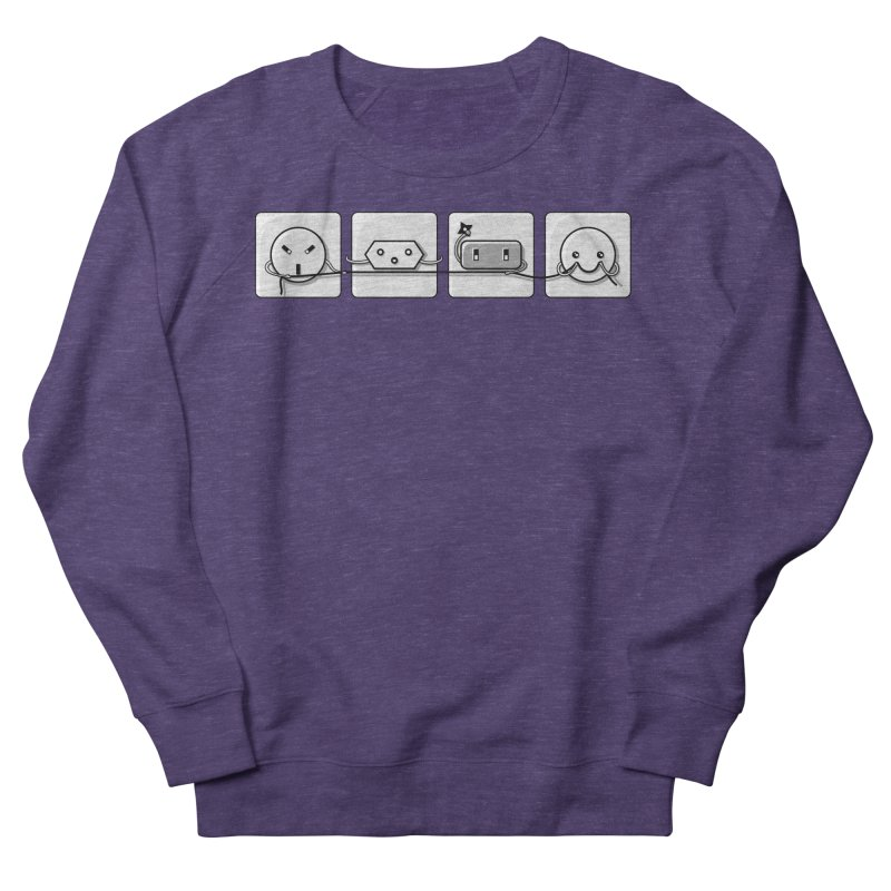 Power Struggle Men's French Terry Sweatshirt by Flaming Imp's Artist Shop