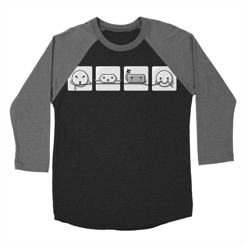 Power Struggle Men's Baseball Triblend T-Shirt by Flaming Imp's Artist Shop
