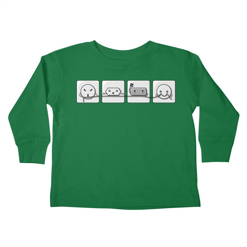 Power Struggle Kids Toddler Longsleeve T-Shirt by Flaming Imp's Artist Shop