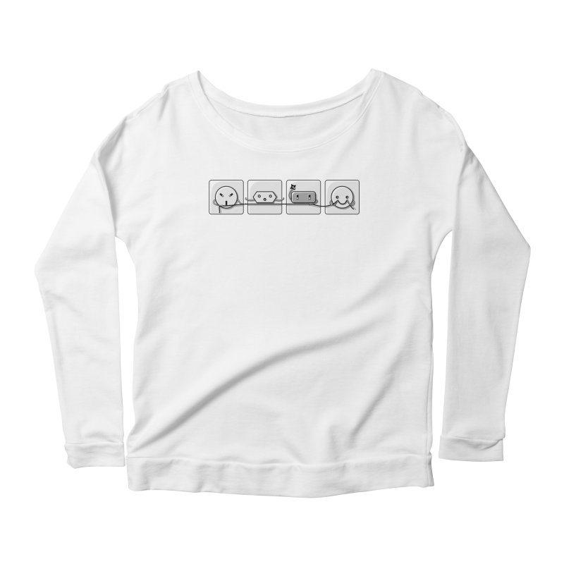 Power Struggle Women's Scoop Neck Longsleeve T-Shirt by Flaming Imp's Artist Shop