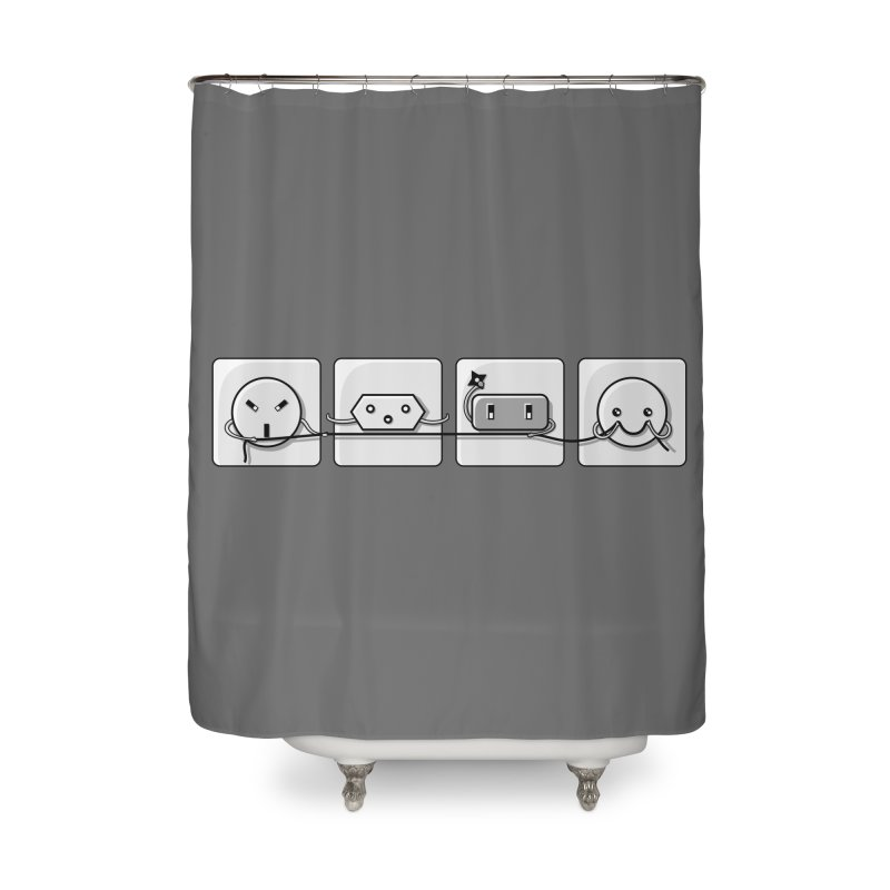 Power Struggle Home Shower Curtain by Flaming Imp's Artist Shop