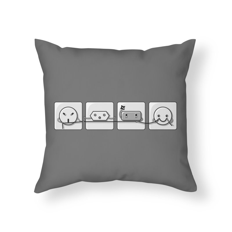Power Struggle Home Throw Pillow by Flaming Imp's Artist Shop