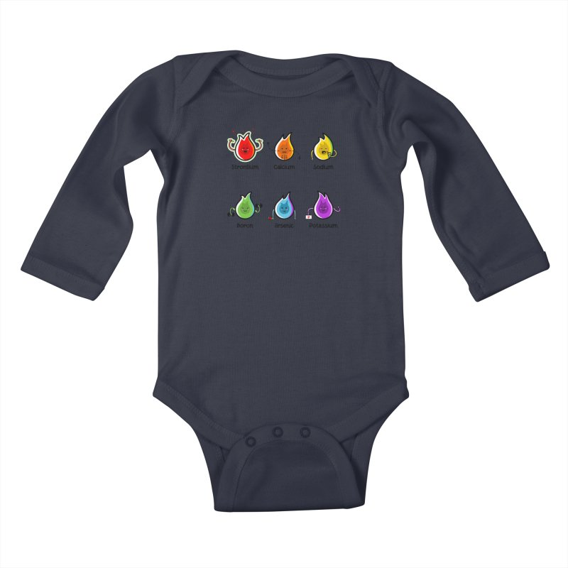 Flaming Elements Kids Baby Longsleeve Bodysuit by Flaming Imp's Artist Shop