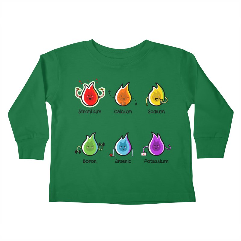 Flaming Elements Kids Toddler Longsleeve T-Shirt by Flaming Imp's Artist Shop
