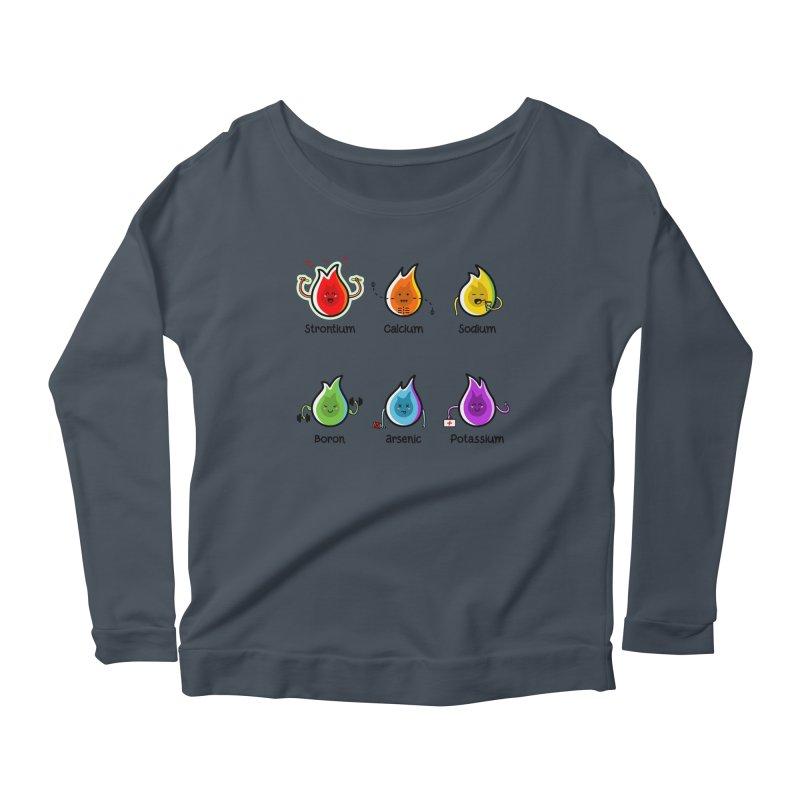 Flaming Elements Women's Scoop Neck Longsleeve T-Shirt by Flaming Imp's Artist Shop