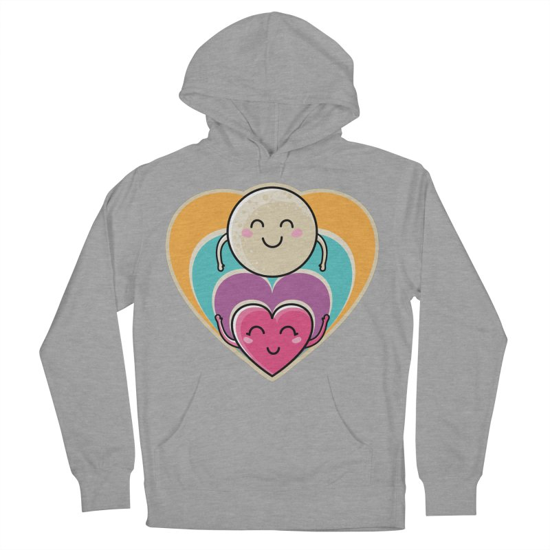 Love to the moon and back Women's French Terry Pullover Hoody by Flaming Imp's Artist Shop