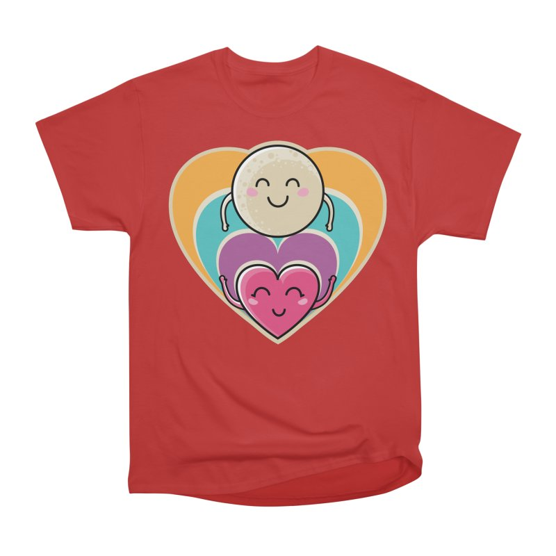 Love to the moon and back Women's Heavyweight Unisex T-Shirt by Flaming Imp's Artist Shop
