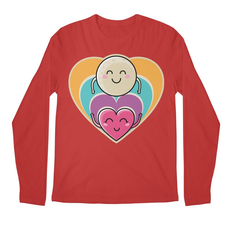Love to the moon and back Men's Regular Longsleeve T-Shirt by Flaming Imp's Artist Shop