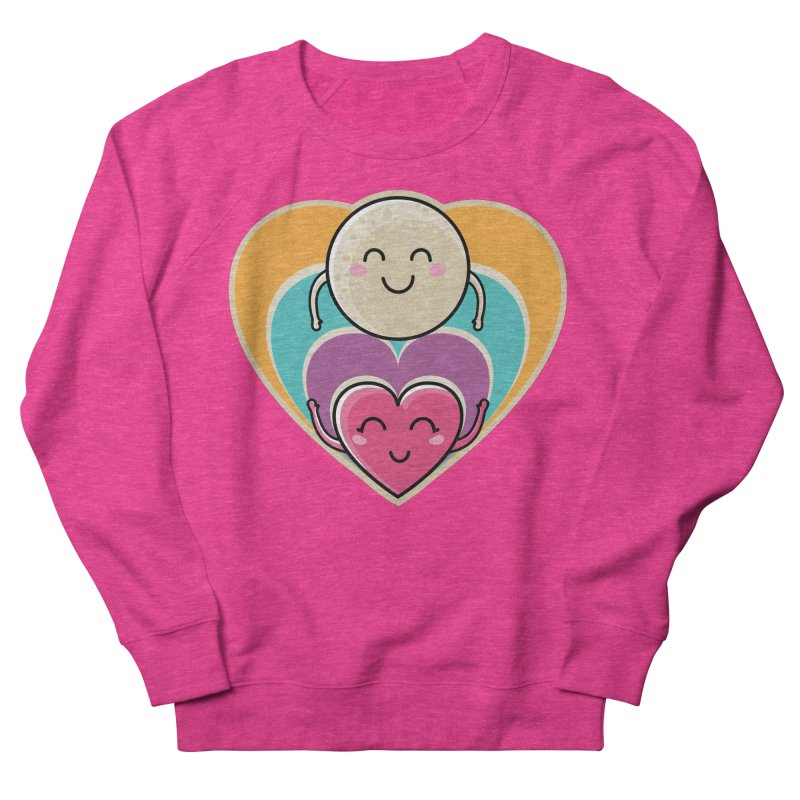 Love to the moon and back Women's French Terry Sweatshirt by Flaming Imp's Artist Shop