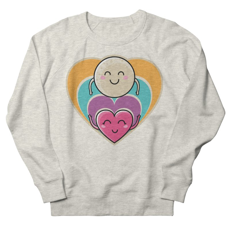 Love to the moon and back Men's French Terry Sweatshirt by Flaming Imp's Artist Shop