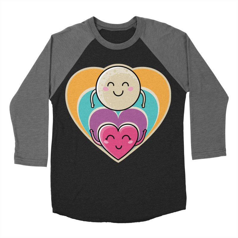 Love to the moon and back Women's Baseball Triblend Longsleeve T-Shirt by Flaming Imp's Artist Shop
