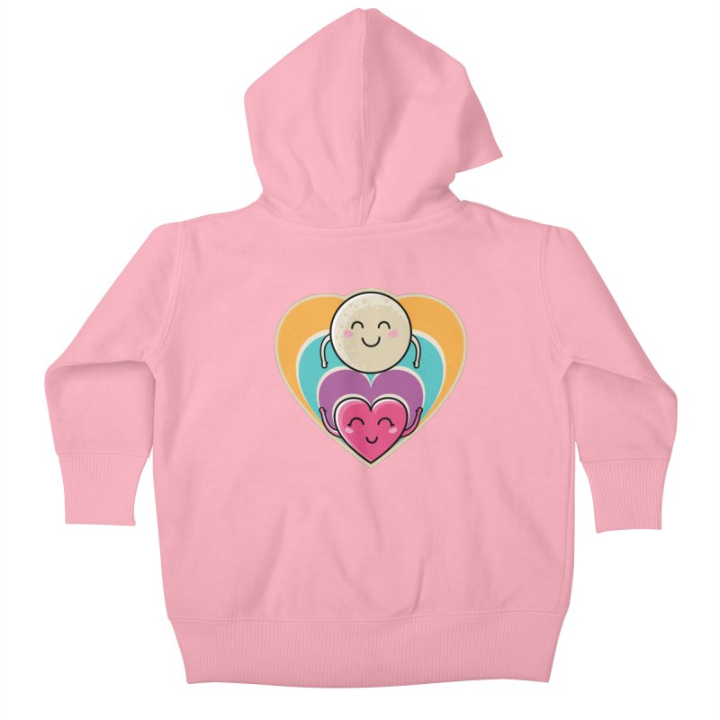 Love to the moon and back Kids Baby Zip-Up Hoody by Flaming Imp's Artist Shop