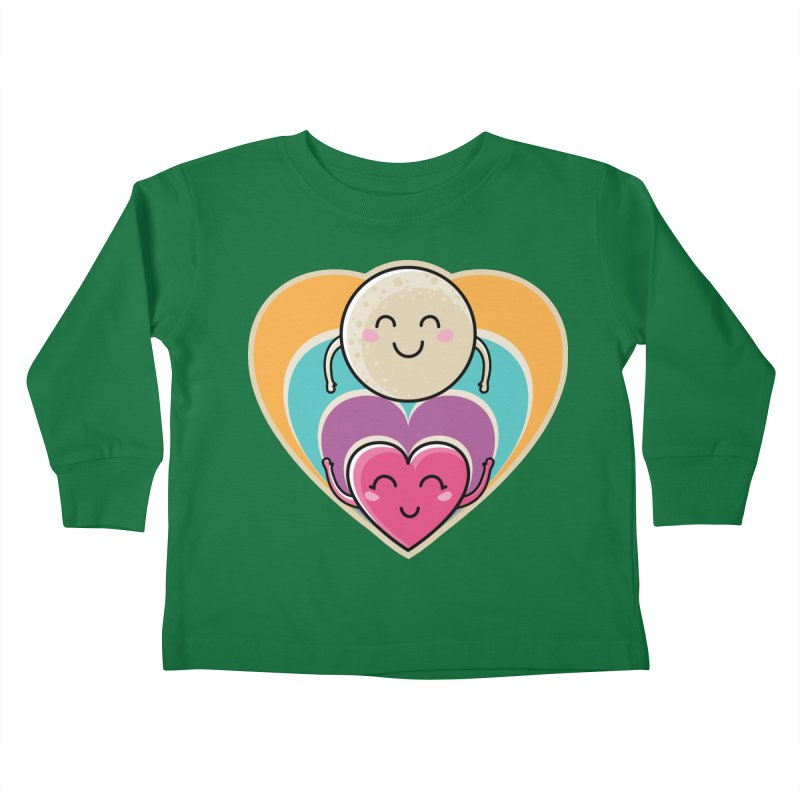 Love to the moon and back Kids Toddler Longsleeve T-Shirt by Flaming Imp's Artist Shop
